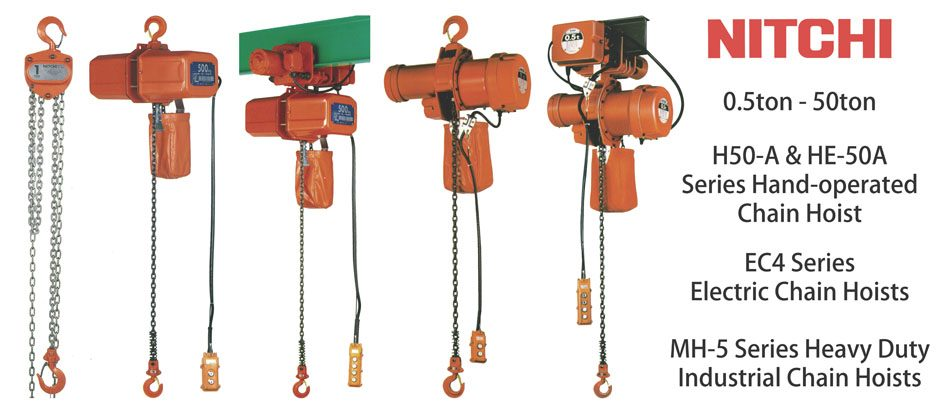 Nitchi electric & manual chain hoist