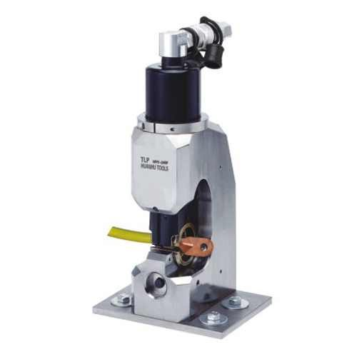 Hydraulic crimping heads for work bench mounting