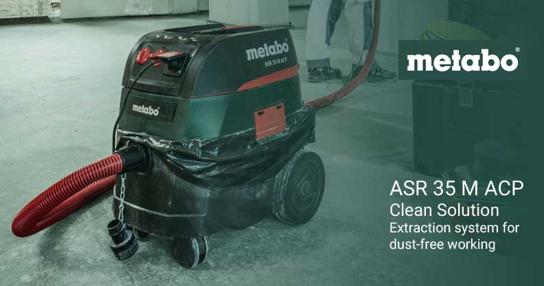 Clean Air – Clean Work:  METABO ASR 35 M ACP Vacuum Cleaner