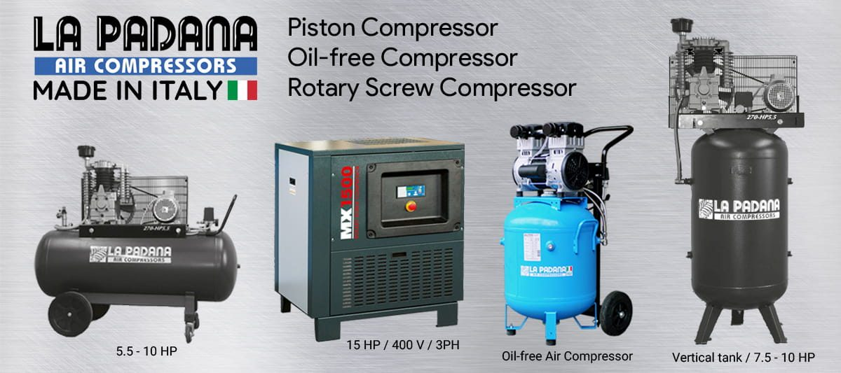 LAPADANA air compressor banner