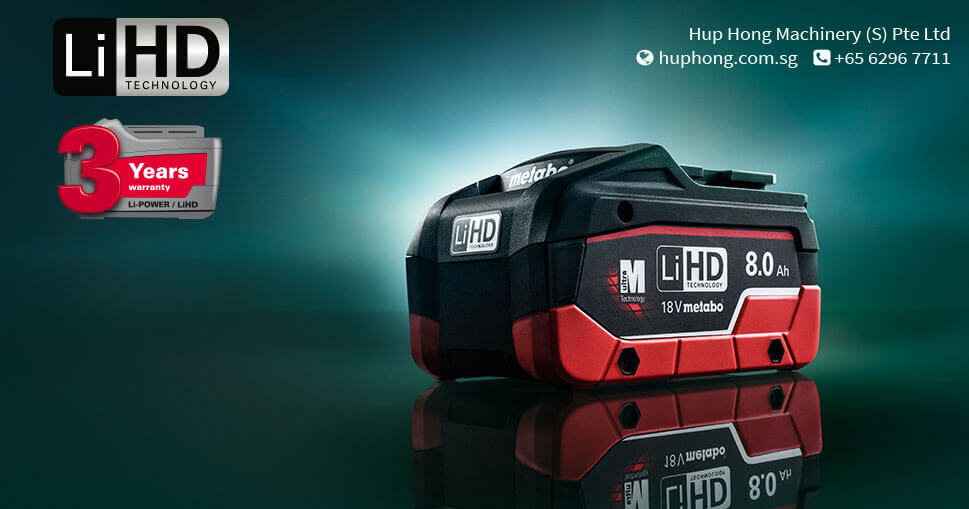 METABO LIHD, THE MOST POWERFUL BATTERY PACK TECHNOLOGY WORLDWIDE!