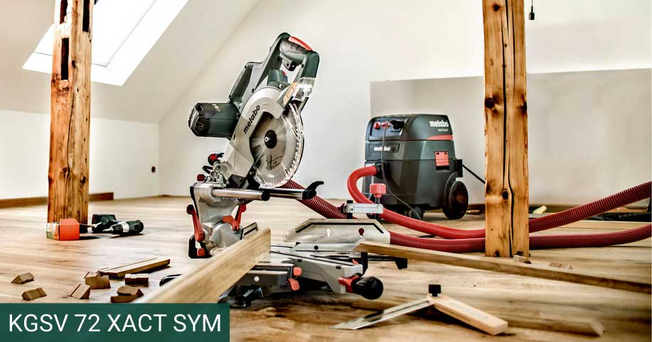 KGSV 72 XACT SYM: Combination of Compact Panel Saw & Precision Skirting Saw