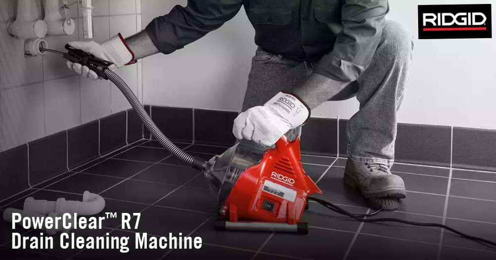 Effortlessly Remove Blockages with the New RIDGID PowerClear Drain Cleaner